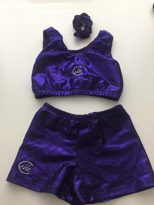 Gymnastic shorts and crop top set