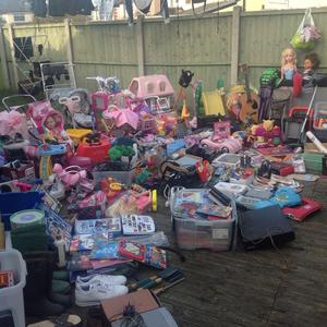 Large amount of stuff suitable for CAR BOOT/jumble sale etc. Van or a couple of car loads BARGAIN !!