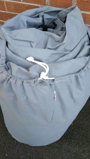 Motorhome brithable cover size xl  all zips and straps work fine! Can deliver