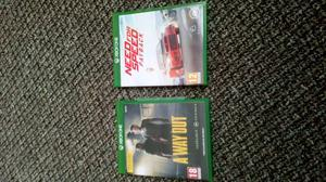 Xbox one games away out and need for speed pay back