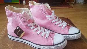 BRAND NEW BOXED Ladies Dunlop Original Pink HighTop Trainer Baseball Boot Size 5