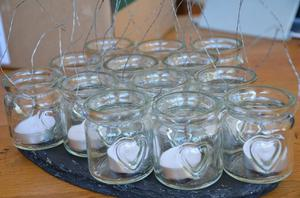 Candle Bags, Glass Jar Candle Holders.