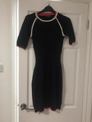 DKNY fitted jumper Dress black size M