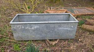 Large galvanised water trough