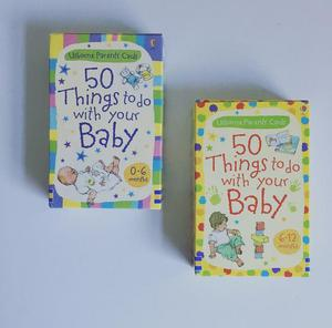 Usbourne 50 Things to Do with Your Baby Cards 0-6 Months & 6