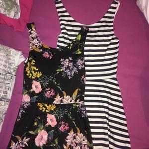 two h&m summer skater dresses size 8 beautiful and perfect for summer!