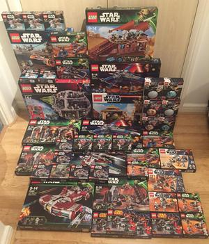 Job lot of brand new sealed discontinued Lego Star Wars sets, including a Lego Death Star