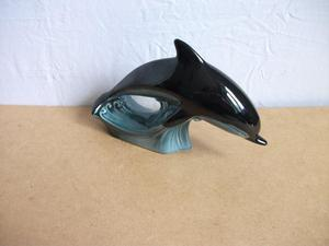 "LARGE POOLE POTTERY DOLPHIN. 11"", INCHES IN LENGTH."