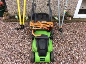 Lawn mower plus 2 edging shears