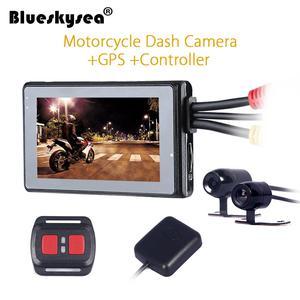 Motorcycle Camera Dash Cam DVR GPS Video Recorder Dual Lens