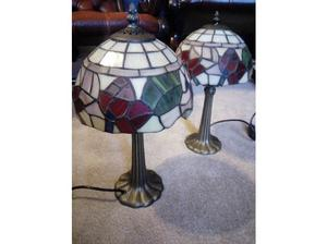 Pair of Tiffany lamps in perfect condition in Cleckheaton
