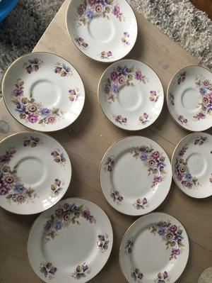 Royal Grafton bone china saucers and side plates