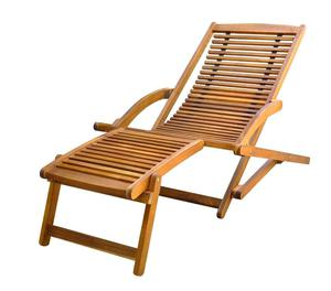 vidaXL Deck Chair with Footrest  New