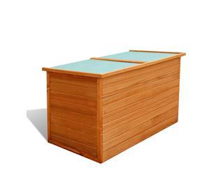 vidaXL Garden Storage Box Wood  New