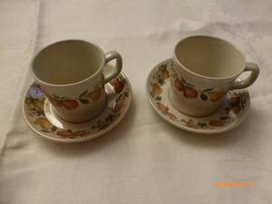 wedgewood quince coffee cups and saucers