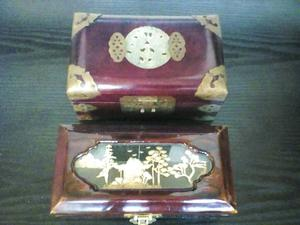 2 x chinese jewellery boxes