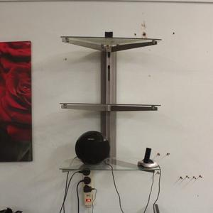 Alphason wall mounted shelving unit previously used for hi-fi separates & TV