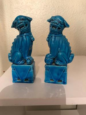 Antique Chinese dogs