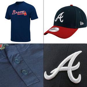 Atlanta Braves 2 Button MLB T shirt + 940 New Era Adjustable