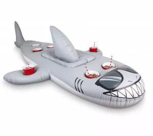Big Mouth Shark Drink Cooler Inflatable Pool Float Water