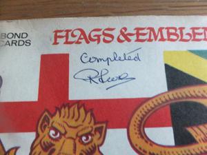 Brooke bond flags & emblems of the world tea cards