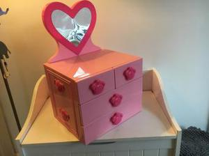 Build-a-bear pink chest of drawers with mirror