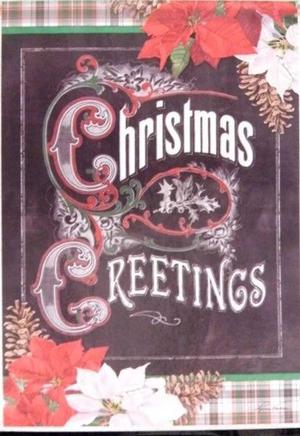"Christmas Greetings Garden Flag - 13 "" x 18"" - 2 Sided"