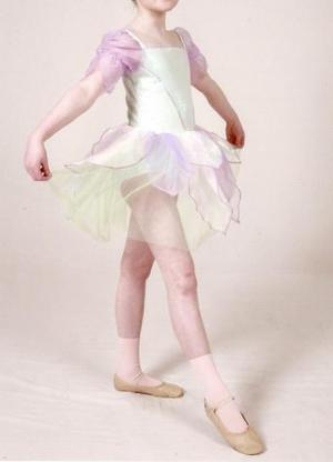 Dance outfit velour leotard dress with tulle skirt age 9-11