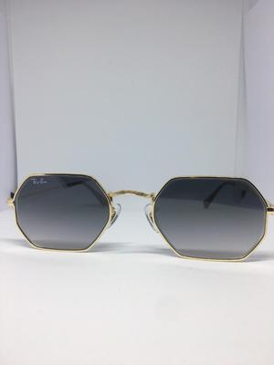 Genuine Ray-Ban Sunglasses Octagonal flat lens RBN Light Grey Gradient