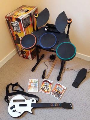 Guitar hero set for Wii/Wii U