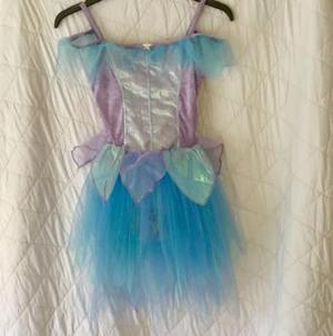 Lilac velour leotard dress with tulle &chiffon skirt age 6-8