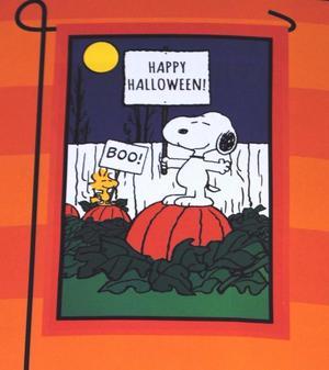 """Peanuts Happy Halloween! BOO! Garden Flag 12"""" x 18"""""""