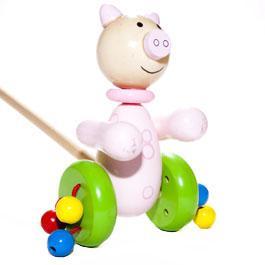 Pig Push Along Toy by Orange Tree Toys