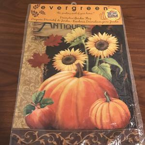 """Pumpkin Antiques For Sale Garden Flag 12.5"""" x 18"""" Evergreen"""