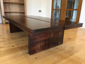 Thick solid wood table