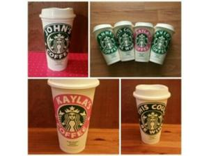personalise Reusable Starbucks 16 oz coffee mug. in Port