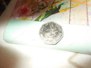peter rabbit 50p coin made
