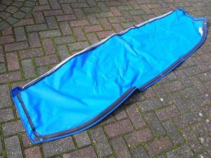 250 Sundancer sunbrella vinyl backed screen cover / awning / brand new blue.