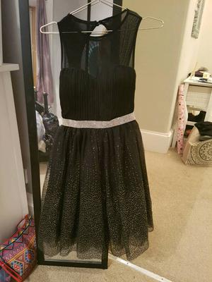 Black and gold party dress size 8