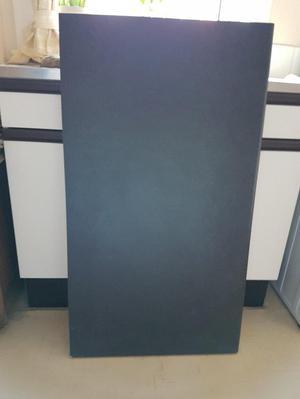 Black wooden laminate worktop offcut 40MM granite effect