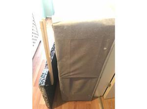 Crushed velvet single bed frame no mattress in Bilston