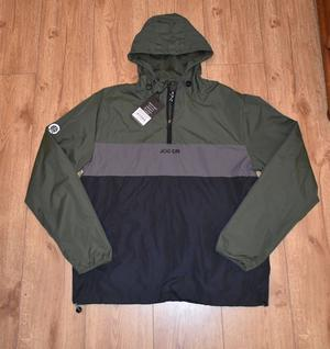 GREEN, GREY AND BLACK TECHNICAL JACKET LARGE