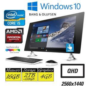 "HP Envy 27-p059na 27"" Touchscreen QHD Quad Core i5 16GB RAM"
