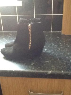 Ladies faith suede wedge boots brand new size 6