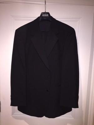 Men's Douglas & Graham Black Formal Dinner Suit. Size 44 regular jacket and 38 regular trousers.