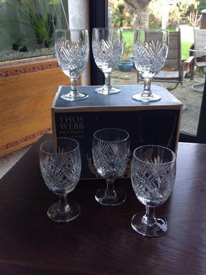 Thomas Webb crystal glasses