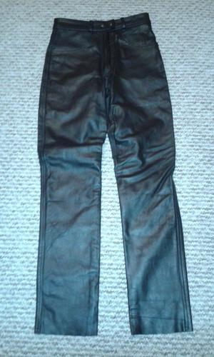 "ladies black leather jeans size 10 inside leg measurement 30 "" new soft leather"