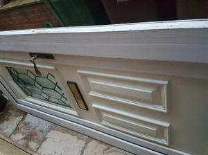 pvc door for a alotment with keys