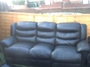 recliner settee and chair for sale