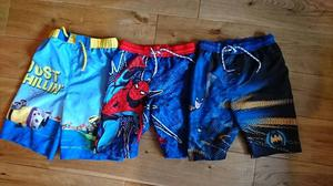 3x boys swim shorts bundle age 7-8